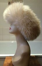 vintage 1970's Glencroft all real sheepskin wide Mongolian style warm hat M/L