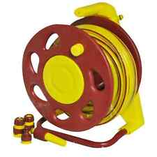 15M WALL MOUNTED FREE STANDING PROF HOSE REEL SET YELLOW PIPE FITTINGS MOUNTABLE