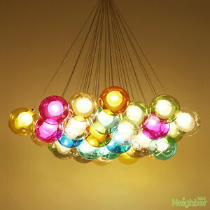 Color bubble Glass ball 16 LED Pendant Lamp Chandelier Ceiling lights Lighting