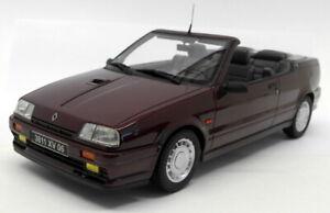 Otto 1/18 Scale Resin - OT079 Renault 19 16S Cabriolet Dark red / Burgundy