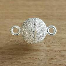 STRONG 925 Sterling Silver Ball Magnetic Stardust Clasp Necklace Fastener  SF002