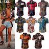 Fashion Men's Summer Casual Dress Shirt Mens Floral Short Sleeve Shirts Tops Tee