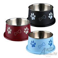 Trixie Food Or Water Stainless Steel non-slip Long Ear Bowl For Spaniel Type Dog