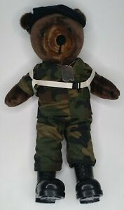 """Vintage 1987 Ira Green Inc. US ARMY Paratrooper Plush Soldier Military 21"""" Bear"""