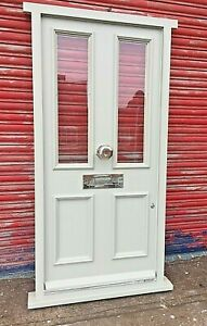 Traditional Hardwood Timber Victorian Front Door Glazed Bespoke Made to Measure