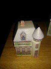 Lenox Spice Village Jar Oregano Victorian House Cottage 1989 Porcelain Spice Rac