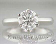 Diamond Solitaire Ring Certified 1.20ct Brilliant-cut & 18ct Gold
