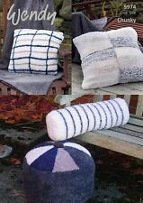 Wendy Cushion and Bolster Covers Knitting Leaflet 5974 in Wendy Eider Yarn