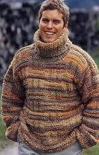 Men's Hand Knitted Turtleneck Sweater XS,S,M,L,XL,XXL,XXXL  Wool Hand Knit 71