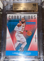 🔥2018-19 LeBron James PANINI DONRUSS COURT KINGS #19 BGS 10 PRISTINE PSA lakers