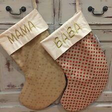 Personalised Stocking, Christmas Stockings, Traditional Stocking, Large 55cm