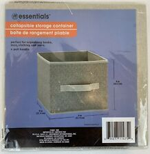 Essentials Tan Collapsible Storage Containers W/Handles-9x9x8 in. NEW~Lot Of 3