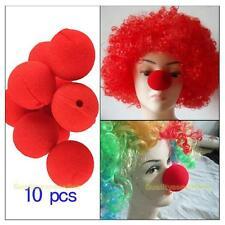10 Stück Clownnasen Schwammball ROT Clown-Nase für Karneval Fasching Party Neu