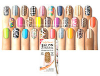 SALLY HANSEN* 16pc Nail Polish Strips SALON EFFECTS Appliques *YOU CHOOSE* N-Z