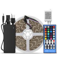 5050 RGBW (RGB+Warm White) LED Strip Light 5M 300LEDs Waterproof + Remote+ Power