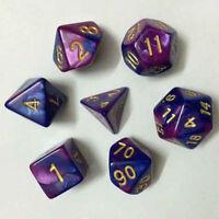 TRPG-Spiele Dungeons & Dragons D4-D20 Multi-seitig würfelt Lava Lila M8U9