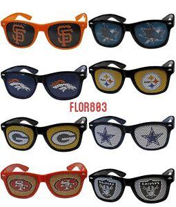NFL ,MLB,NHL Team Logo Game Day Mesh Shades Sunglasses