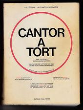 CANTOR A TORT - Mathématiques - ANTONIADES MÉTRIOS