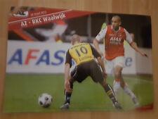 AZ Alkmaar v RKC Waalwijk 25-03-2012 paper hand clapper / voetbalklapper