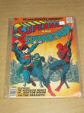 MARVEL TREASURY EDITION #28 VF (8.0) SUPERMAN AND SPIDERMAN US COPY 1981