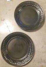 "Fioriware Lot 2 Jardinware Vine Pattern Art Pottery 11-3/8"" Dinner Plates Black"