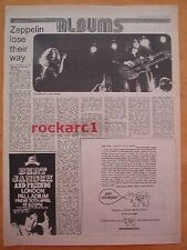 LED ZEPPELIN HOUSES OF THE HOLY ALBUM REVIEW 1973 UK  ARTICLE / clipping