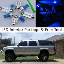 15PCS Blue LED Interior Lights Package kit Fit 2000-2006 Chevy Suburban/Tahoe J1