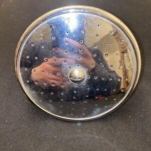"""Antique 5"""" Crane Chrome Brass Shower Head Spout Old Vtg Bath Deco"""