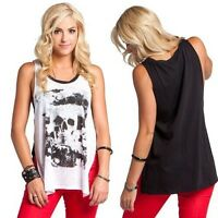 Metal Mulisha Dark Side Of The Moon Tank T shirt womens ladies girls Racer Tee