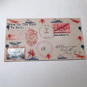 1945 USS New Jersey Post Office - Air Mail cover