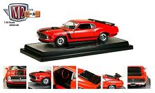 M2 Machines 1:24 Detroit-Muscle 1970 Mustang Boss 302 Diecast Car Model Red