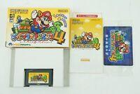 SUPER MARIO ADVANCE 4 GBA Nintendo Gameboy Advance Box From Japan