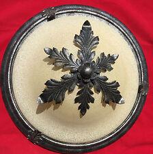 Corbett Opaque Glass & Sculpted Metal Leaf Flush Mount Ceiling Fixture - Nice