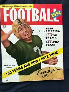 Ralph Guglielmi of Notre Dame, All American College Hall of Fame signed magazine