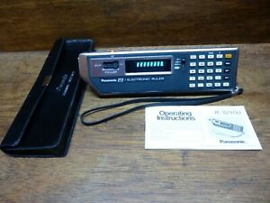 PANASONIC 8210 ELECTRONIC RULER RARE VINTAGE CALCULATOR WORKS PERFECTLY!