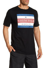 Rip Curl Men's M Tee T-Shirt Short Sleeve Black Costa Rica Heather 100% Cotton