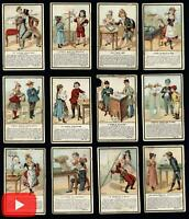 Chocolate trade cards Paris c.1900 collection 23 children playing harlequins