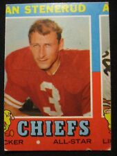 1971 Topps Football #61 Jan Stenerud HOF Kansas City Chiefs-ULTRA RARE MISCUT!