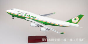 1/157  EVA AIR Airliners Boeing 747 Aircraft B747-400 Airplane W Light & Sound