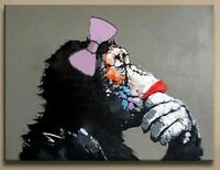 Hand-painted Modern Wall Decor Art Oil Painting On Canvas:monkey #98(No Frame)