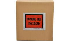 """Packing List Enclosed Envelopes 4.5"""" x 5.5"""" Full Face - Back Side Load 2000 Pcs"""