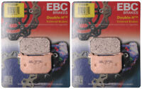 EBC Double-H Sintered Metal Brake Pads FA68HH (2 Packs - Enough for 2 Rotors)
