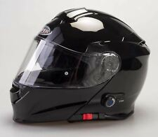 Viper Rs-v171 Plain Bluetooth Flip up Motorcycle Scooter Helmet Pinlock L Black