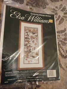 """Elsa Williams Cross Stitch Kit """"Saturday Skaters""""  #02078"""