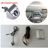 HD CCD 170° 4 LED Car Reversing Rear Backup Camera IR infrared Night Vision&