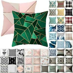 Outdoor Garden Geometric Print Cushion Ocean World Pillow Cases Cover Seats Soft