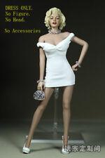 "1/6 Marilyn Monroe Classic White Dress Mini Skirt Toy F 12"" Doll NO HEAD NO BODY"