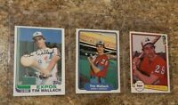 (3) Tim Wallach 1982 Topps Fleer Donruss Rookie Card Lot Expos All Star RC