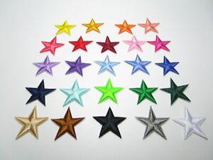 2er Set Applikation Aufnäher Aufbügler Bügelbild Stickerei Flicken Stern Sterne