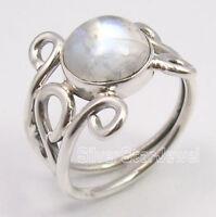 NEU Luxus 925 Sterling Silber-Ring mit echtem Mondstein, Gr. 10/20/60